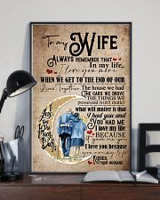 To Wife - Moon - Always Remember That I Love You 16x24 Poster lifestyle-poster-2
