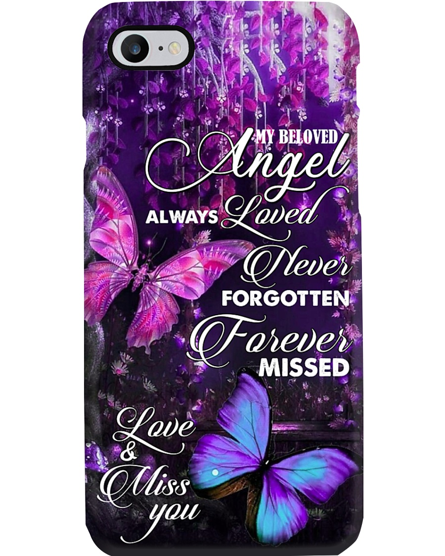 MY BELOVED ANGEL - BUTTERFLY - MISS YOU Phone Case