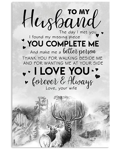 TO MY HUSBAND - HUNTING - THE DAY I MET YOU