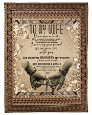 To My Wife - I Love You Forever And Always  Fleece Blanket tile