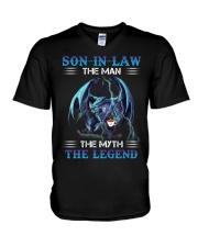 SON-IN-LAW - DRAGON COFFEE - THE MAN THE MYTH  V-Neck T-Shirt thumbnail