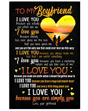 POSTER - TO MY BOYFRIEND - HEART - I LOVE YOU 16x24 Poster front