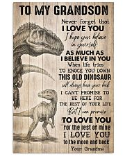 To Grandson - I Hope You Believe In Yourself  16x24 Poster front