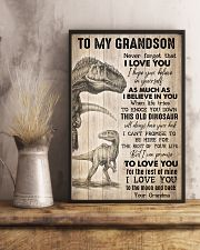 To Grandson - I Hope You Believe In Yourself  16x24 Poster lifestyle-poster-3