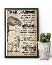 To Grandson - I Hope You Believe In Yourself  16x24 Poster lifestyle-poster-8