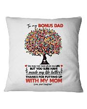 DAUGHTER TO BONUS DAD Square Pillowcase thumbnail