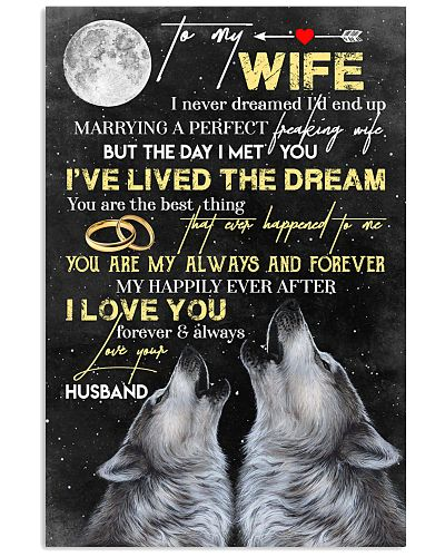 TO MY WIFE - WOLF - I LOVE YOU