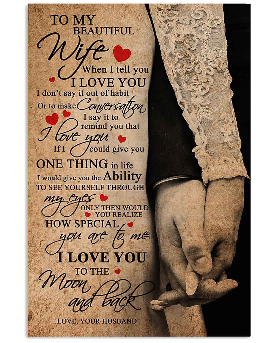 TO MY BEAUTIFUL WIFE 16x24 Poster