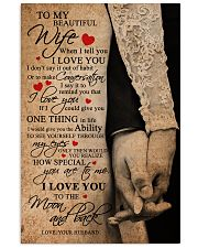 TO MY BEAUTIFUL WIFE 16x24 Poster front