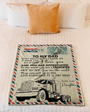 "To My Dad - Trucker - Fleece Blanket Small Fleece Blanket - 30"" x 40"" aos-coral-fleece-blanket-30x40-lifestyle-front-04"