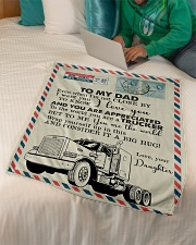 "To My Dad - Trucker - Fleece Blanket Small Fleece Blanket - 30"" x 40"" aos-coral-fleece-blanket-30x40-lifestyle-front-07"