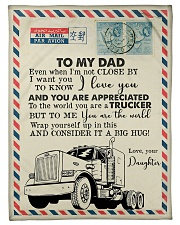 "To My Dad - Trucker - Fleece Blanket Small Fleece Blanket - 30"" x 40"" front"