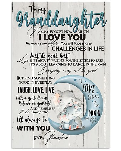 TO MY GRANDDAUGHTER - I LOVE YOU