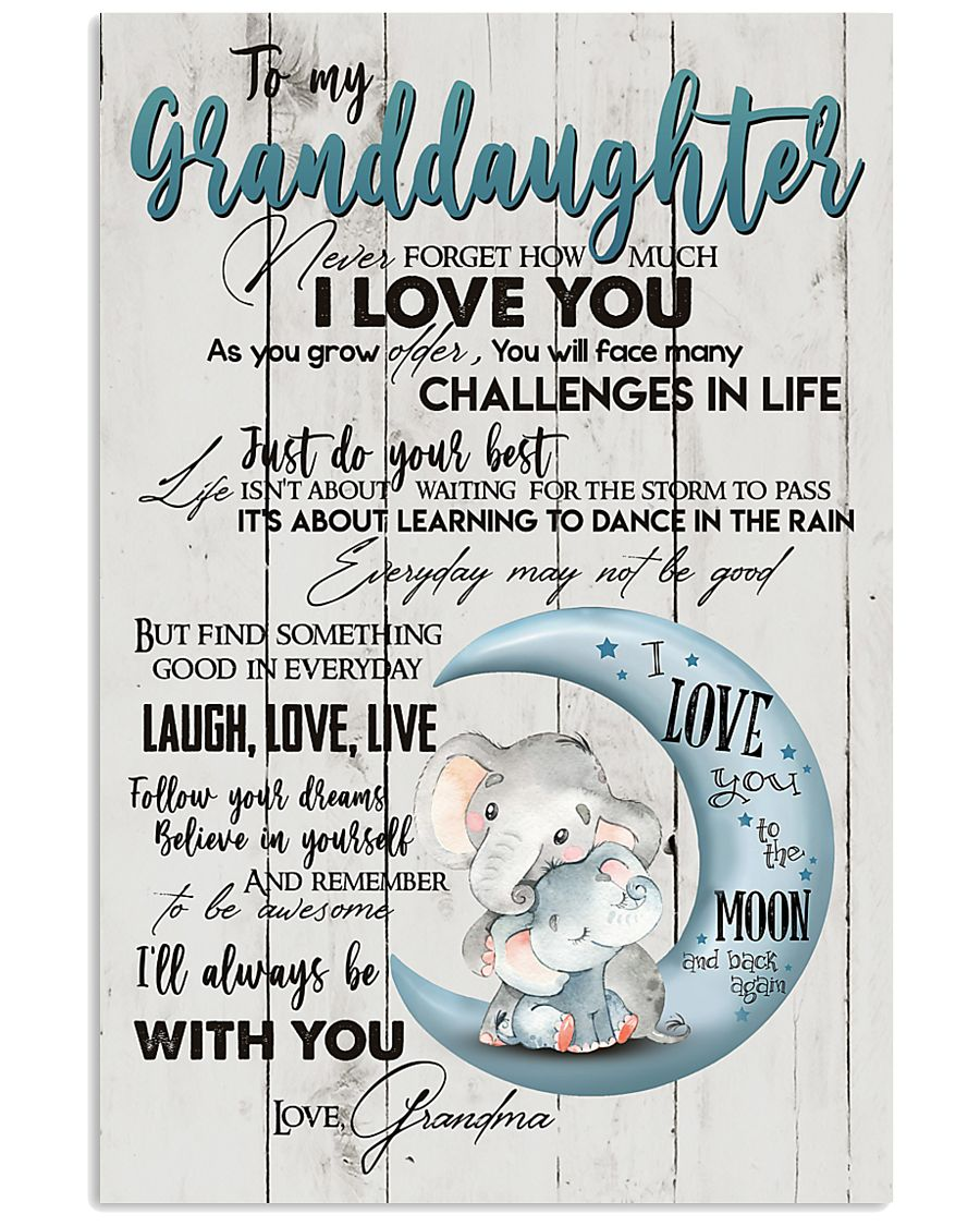 TO MY GRANDDAUGHTER - I LOVE YOU 16x24 Poster