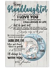 TO MY GRANDDAUGHTER - I LOVE YOU 16x24 Poster front