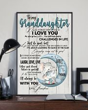 TO MY GRANDDAUGHTER - I LOVE YOU 16x24 Poster lifestyle-poster-2