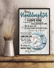 TO MY GRANDDAUGHTER - I LOVE YOU 16x24 Poster lifestyle-poster-3