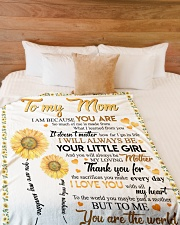 """DAUGHTER TO MOM Large Fleece Blanket - 60"""" x 80"""" aos-coral-fleece-blanket-60x80-lifestyle-front-02"""