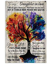 To My Daughter-in-law - Colorful Tree - The One  16x24 Poster front