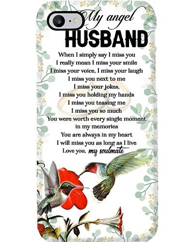 MY ANGEL HUSBAND - RUBY HUMMINGBIRD - MISS YOU