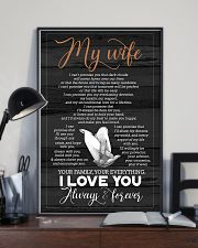 To My Wife - Hands - I Can't Promise You 16x24 Poster lifestyle-poster-2