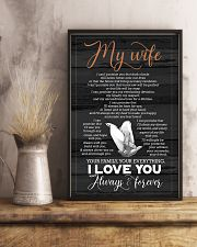 To My Wife - Hands - I Can't Promise You 16x24 Poster lifestyle-poster-3