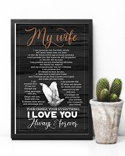 To My Wife - Hands - I Can't Promise You 16x24 Poster lifestyle-poster-8