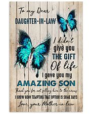 To My Daughter-in-law - Butterfly - Gift of Life Vertical Poster tile