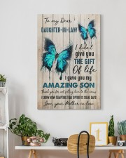 To My Daughter-in-law - Butterfly - Gift of Life 20x30 Gallery Wrapped Canvas Prints aos-canvas-pgw-20x30-lifestyle-front-03