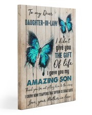 To My Daughter-in-law - Butterfly - Gift of Life 20x30 Gallery Wrapped Canvas Prints front