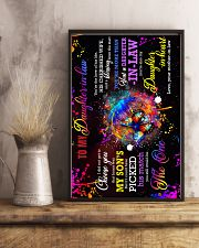 To My Daughter-in-law - Galaxy Butterfly  16x24 Poster lifestyle-poster-3
