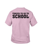 BORN TO BE - PINK - SCHOOL Youth T-Shirt back
