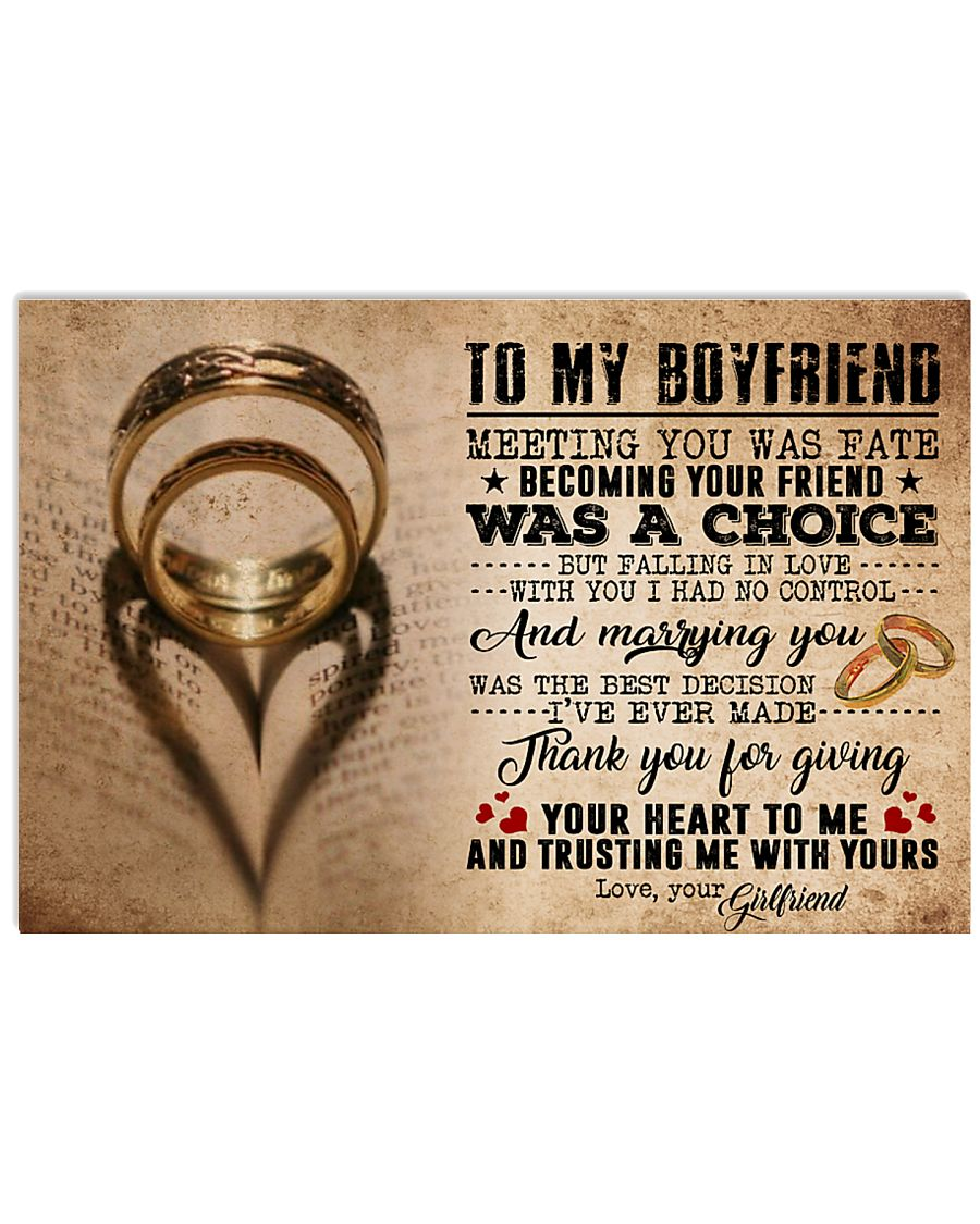 TO MY BOYFRIEND 24x16 Poster