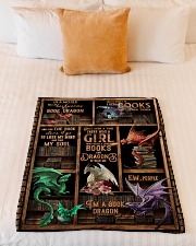 """Dragon - Books - Once Upon A Time There Was A Small Fleece Blanket - 30"""" x 40"""" aos-coral-fleece-blanket-30x40-lifestyle-front-04"""