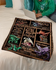 """Dragon - Books - Once Upon A Time There Was A Small Fleece Blanket - 30"""" x 40"""" aos-coral-fleece-blanket-30x40-lifestyle-front-07"""