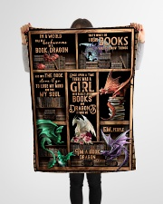 """Dragon - Books - Once Upon A Time There Was A Small Fleece Blanket - 30"""" x 40"""" aos-coral-fleece-blanket-30x40-lifestyle-front-14"""