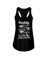 DAD - WHITE LETTERS IN BLACK - FAVORITE DINOSAUR Ladies Flowy Tank thumbnail