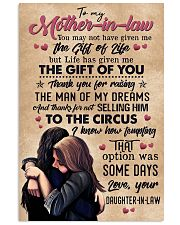 TO MY MOTHER-IN-LAW - CIRCUS 16x24 Poster front
