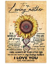TO MY MOM - SUNFLOWER - MY LOVING MOTHER 16x24 Poster front