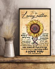 TO MY MOM - SUNFLOWER - MY LOVING MOTHER 16x24 Poster lifestyle-poster-3