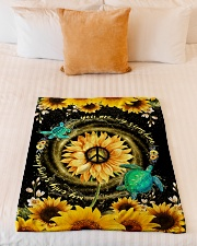 """TURTLE - SUNFLOWER - YOU ARE MY SUNSHINE Small Fleece Blanket - 30"""" x 40"""" aos-coral-fleece-blanket-30x40-lifestyle-front-04"""