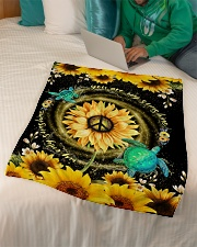 """TURTLE - SUNFLOWER - YOU ARE MY SUNSHINE Small Fleece Blanket - 30"""" x 40"""" aos-coral-fleece-blanket-30x40-lifestyle-front-07"""