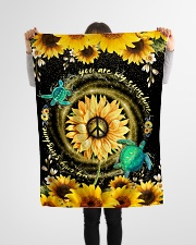 """TURTLE - SUNFLOWER - YOU ARE MY SUNSHINE Small Fleece Blanket - 30"""" x 40"""" aos-coral-fleece-blanket-30x40-lifestyle-front-14"""