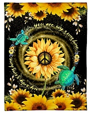"""TURTLE - SUNFLOWER - YOU ARE MY SUNSHINE Small Fleece Blanket - 30"""" x 40"""" front"""