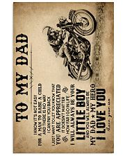 To My Dad - Motorcycle - Poster 16x24 Poster front