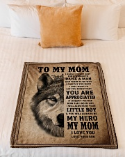 """FLEECE BLANKET - TO MY MOM - I LOVE YOU Small Fleece Blanket - 30"""" x 40"""" aos-coral-fleece-blanket-30x40-lifestyle-front-04"""