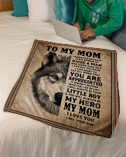 """FLEECE BLANKET - TO MY MOM - I LOVE YOU Small Fleece Blanket - 30"""" x 40"""" aos-coral-fleece-blanket-30x40-lifestyle-front-07"""
