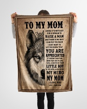 """FLEECE BLANKET - TO MY MOM - I LOVE YOU Small Fleece Blanket - 30"""" x 40"""" aos-coral-fleece-blanket-30x40-lifestyle-front-14"""