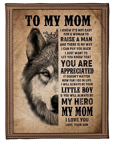 FLEECE BLANKET - TO MY MOM - I LOVE YOU