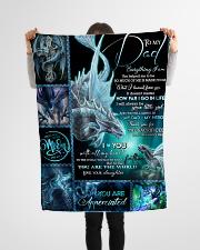 "FLEECE BLANKET - TO MY DAD - DRAGON Small Fleece Blanket - 30"" x 40"" aos-coral-fleece-blanket-30x40-lifestyle-front-14"